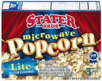 Stater Bros. Lite Butter Flavored 2.9 Oz Bags Microwave Popcorn 3 Ct Box