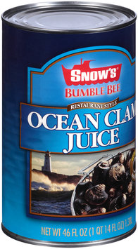 Snow's® Bumble Bee® Restaurant Style Ocean Clam Juice 46 fl. oz. Can