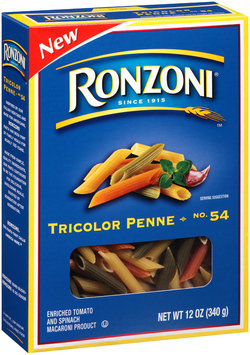 Ronzoni® No. 54 Tricolor Penne 12 oz. Box
