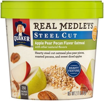Quaker® Real Medleys® Steel Cut Apple Pear Pecan Flavor Oatmeal