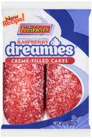 Mrs. Freshley's® Raspberry Dreamies™ Creme-Filled Cakes 4 oz. Wrapper
