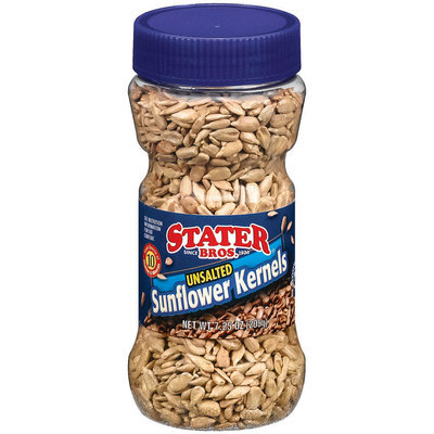 Stater Bros. Unsalted Sunflower Kernels 7.25 Oz Canister