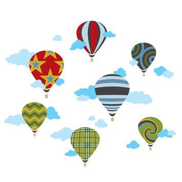 Wall Candy Arts Wallcandy Arts ha01 Hot Air Balloons Wall Decals