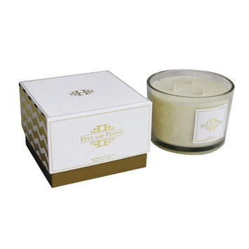 Jay Import Inc Chevron 3-wick Summer Pear Jar Candle