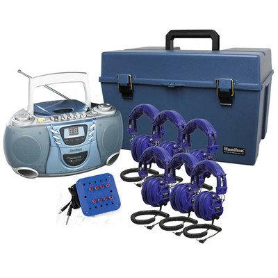 Hamilton Electronics KIDS-HMC - CD385 - 8SV Listening Center- Cool KIDS Blue Col