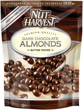 Nut Harvest® Butter Toffee Dark Chocolate Almonds 5.5 oz. Bag