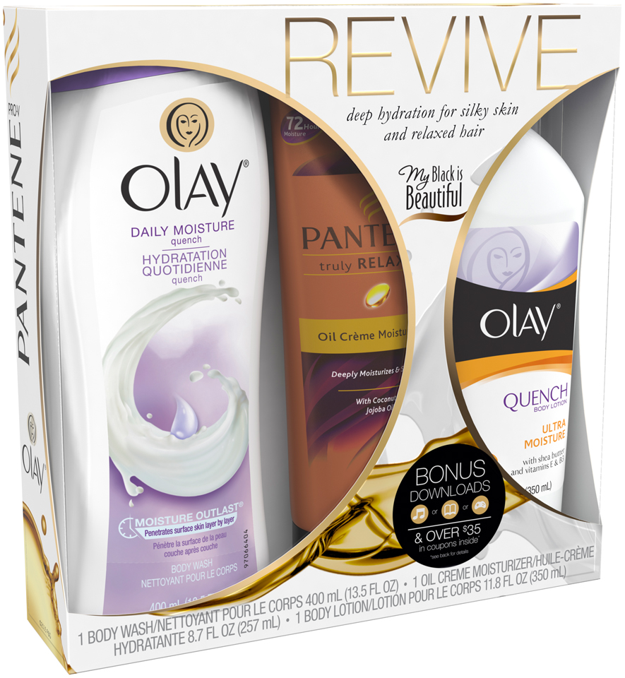 Mixed Revive 3-Piece Gift Collection, with Olay and Pantene