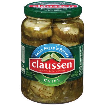 Claussen Sweet Bread'n Butter Chips Pickles 24 Oz Jar