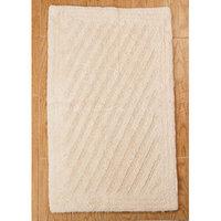 Textile Decor Castle 100% Cotton Shooting Star Reversible Bath Rug, 30 H X 20 W, Ivory