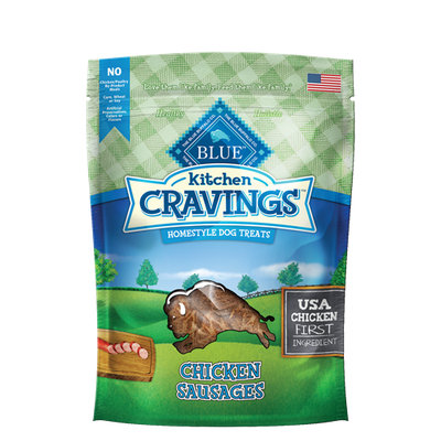 THE BLUE BUFFALO CO. BLUE™ Kitchen Cravings™ Chicken Sausages Homestyle Dog Treats