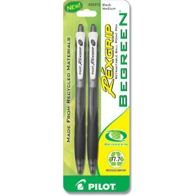 Pilot PIL32373 Rexgrip BeGreen Ballpoint Pens Pack of 2