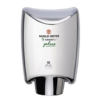 World Dryer SmartDri Plus Single-Port Nozzle Hand Dryer Finish: Polished Stainless Steel, Voltage: 208-240 V