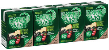 Earth Wise Entirely Natural Berry Meadow 4.23 Oz 100% Juice 4 Ct Aseptic Pk