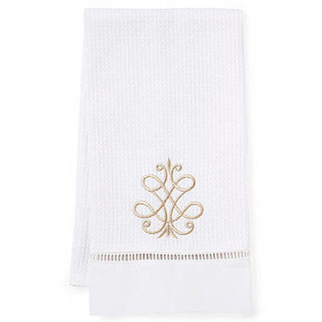 Jacaranda Living French Scroll Hand Towel