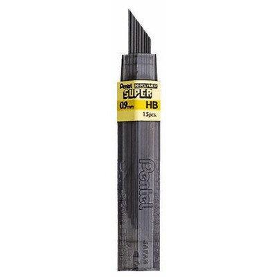 Pentel Super Hi Polymer Lead (Set of 4) Point Size: 0.9mm, Lead type: B