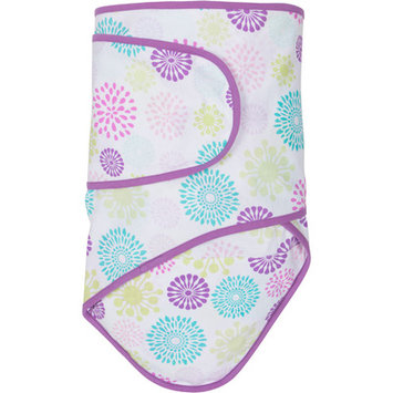 Miracle Industries Miracle Blanket - Colorful Bursts with Purple Trim (Newborn)