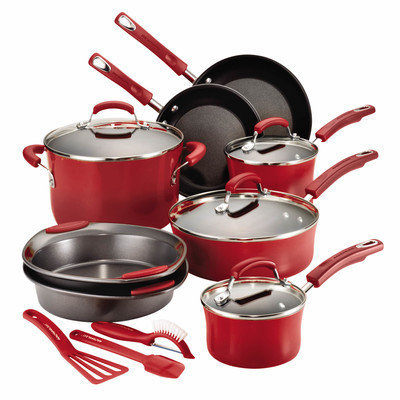 Meyer Corporation Rachael Ray Red 15-pc. Cookware Set