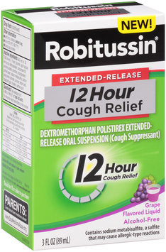 Robitussin® Extended-Release 12 Hour Cough Relief Grape Flavored Liquid 3 fl. oz. Box