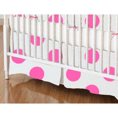 Stwd Neon Polka Dots Crib Skirt Color: Pink
