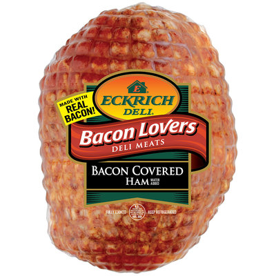 Eckrich Bacon Lovers Bacon Covered Ham Deli Meat