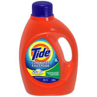 Tide Coldwater Mountain Spring Scent Liquid Laundry Detergent 52 Loads 2.95 L