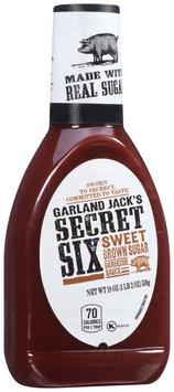 Garland Jack's Secret Six Sweet Brown Sugar Barbecue Sauce 18 oz. Bottle