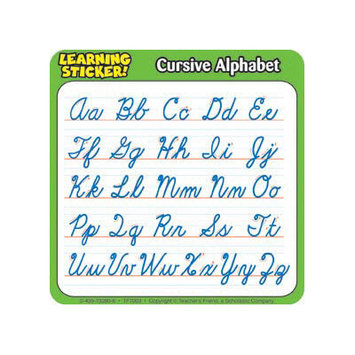 Teachers Friend Cursive Alphabet 4in Learning