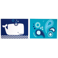 Happy Chic by Jonathan Adler Party Whale 2-pk. Canvas Wall Art (Blue)