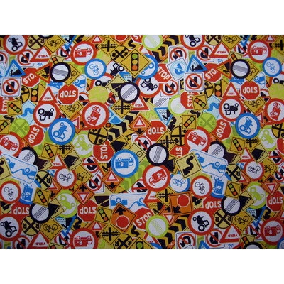 Stwd Traffic Signs Mini Fitted Sheet