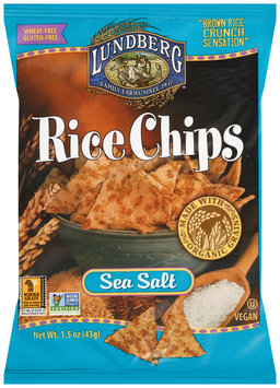 Lundberg® Sea Salt Rice Chips 1.5 oz. Bag