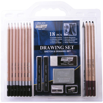 Pro-Art 18-Piece Drawing Set