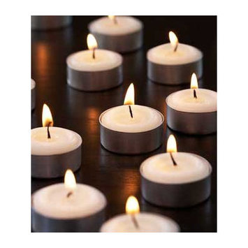 Light Technology Pub High Quality Unscented Tealight Candles (Set of 130)
