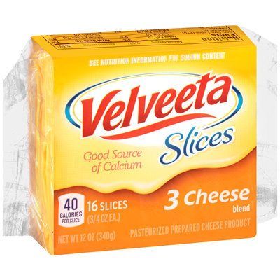 Velveeta Slices 3 Cheese Blend