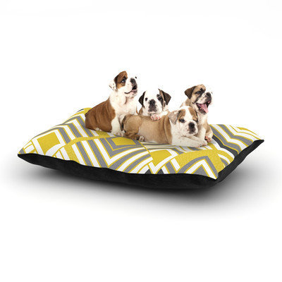 Kess Inhouse 'Luca - Gold' Dog Bed, 40 L x 30 W