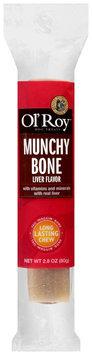 Ol' Roy™ Liver Flavor Munchy Bone Dog Treats 2.8. oz Wrapper