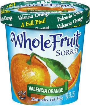 Whole Fruit® Valencia Orange Sorbet 16 Oz Carton