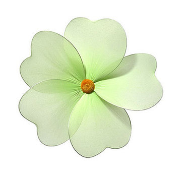 Heart To Heart Multi Layered Flower - Size: Large, Color: Green
