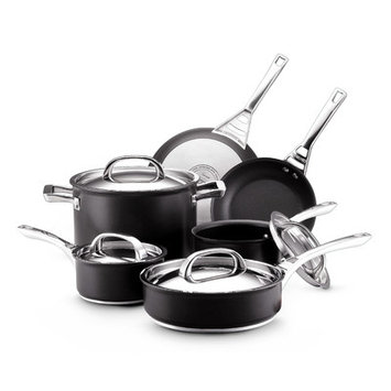 Meyer Corporation Circulon Infinite Hard Anodized Nonstick 10-piece Set, Black