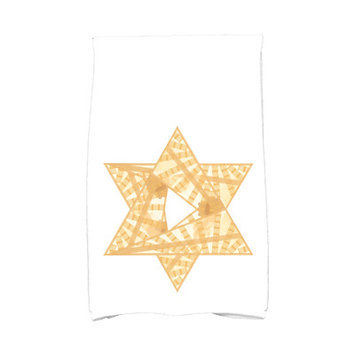 The Holiday Aisle Star Mosaic Hand Towel Color: Gold