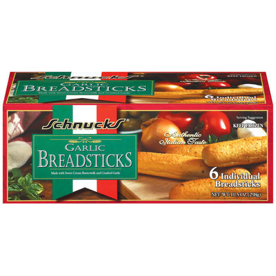 Schnucks Garlic Breadsticks 6 Ct Box