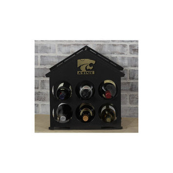 Hensonmetalworks 6 Bottle Tabletop Wine Rack NCAA Team: Kansas State