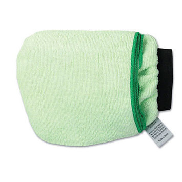 UNISAN UNSMICROMITTGRE Green Grip-N-Flip 10-Sided Microfiber Mitt 7
