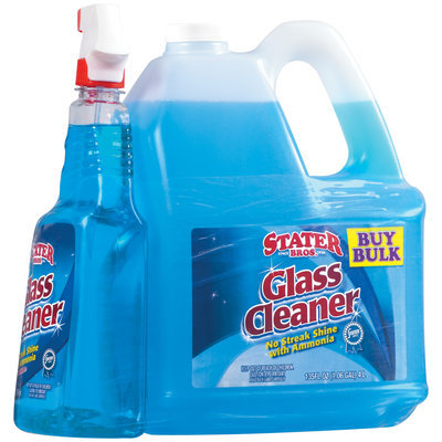 Stater Bros. W/Refillable 32 Oz Spray Bottle Glass Cleaner 135 Oz Plastic Jug
