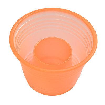 Fineline Settings, Inc Quenchers Disposable Plastic 1 oz. Neon Blaster (500/Case), Orange