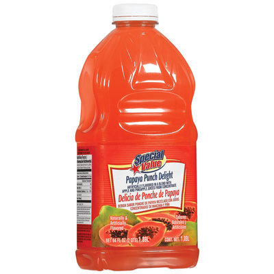 Special Value Papaya Punch Delight Beverage 64 Fl Oz Plastic Bottle