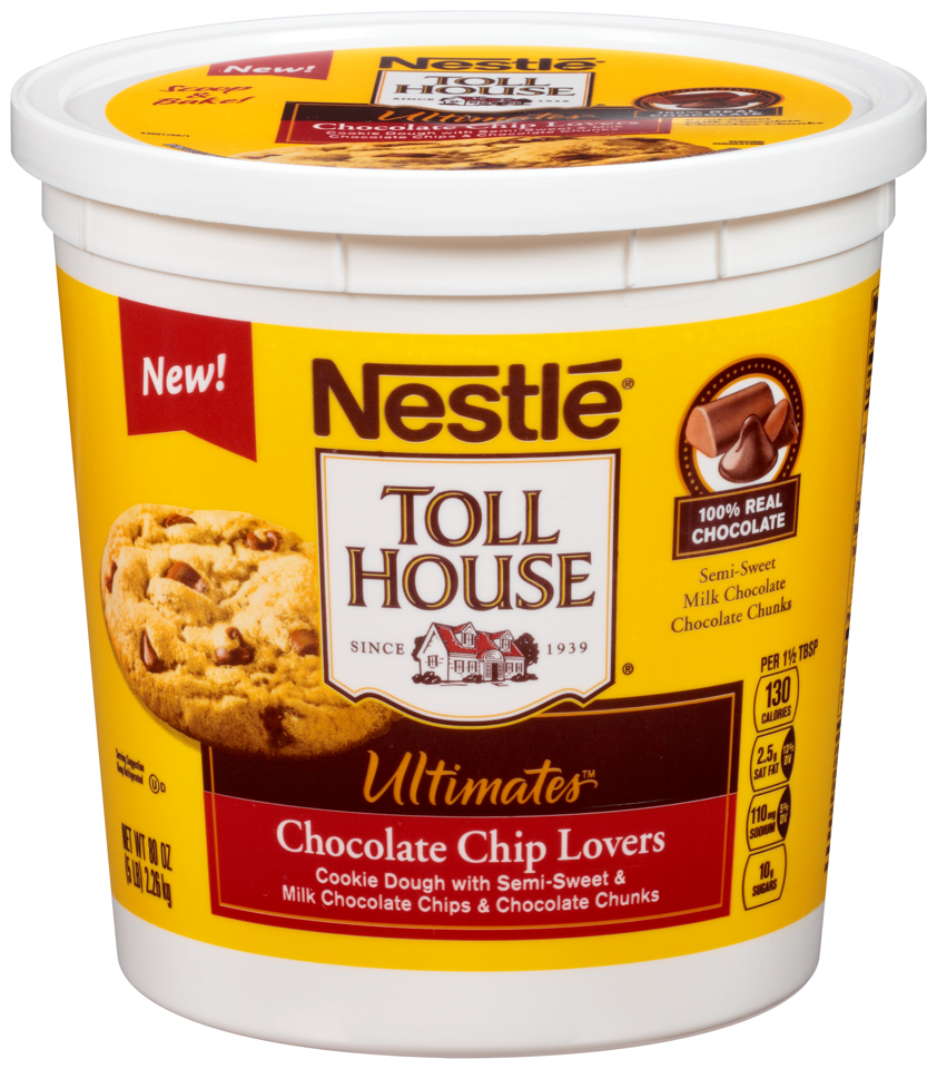 Nestlé Toll House Ultimates Chocolate Chip Lovers Cookie Dough 80 oz. Tub