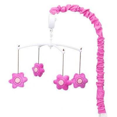 Bacati Damask Musical Mobile (Pink)