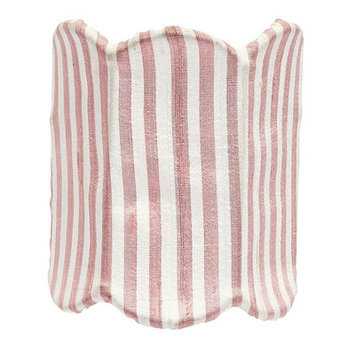 Jubilee Collection 1344 Double Scallop Pink and White Stripe Nightlight