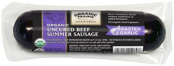 Organic Prairie® Roasted Garlic Organic Uncured Beef Summer Sausage 12 oz. Pack