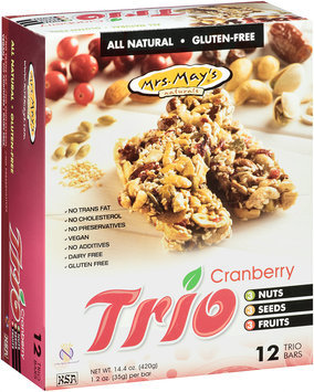 Mrs. May's® Trio Cranberry Snack Bars 12-1.2 oz. Wrappers